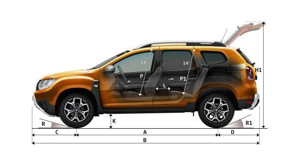 Nová Dacia Duster rozměry